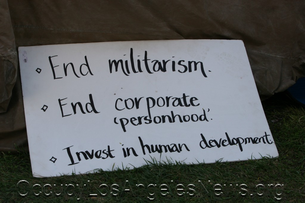 End corporate personhood.  Occupy LA! OccupyLosAngelesNews.org