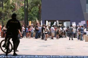"""Restore The Fourth"" Amendment rally Los Angeles July 4, 2013. Photo by Mitch Ward."