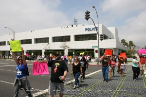 Occupy Los Angeles News - Police protests took place in 2013 from Hawthorne (above), Fullerton, Anaheim, and Riverside