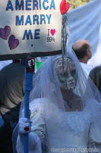 Top Photos and Stories of 2013 - Contemplative Series - Photo taken at Occupy The Rose Parade - an occupier demanding marriage equality.