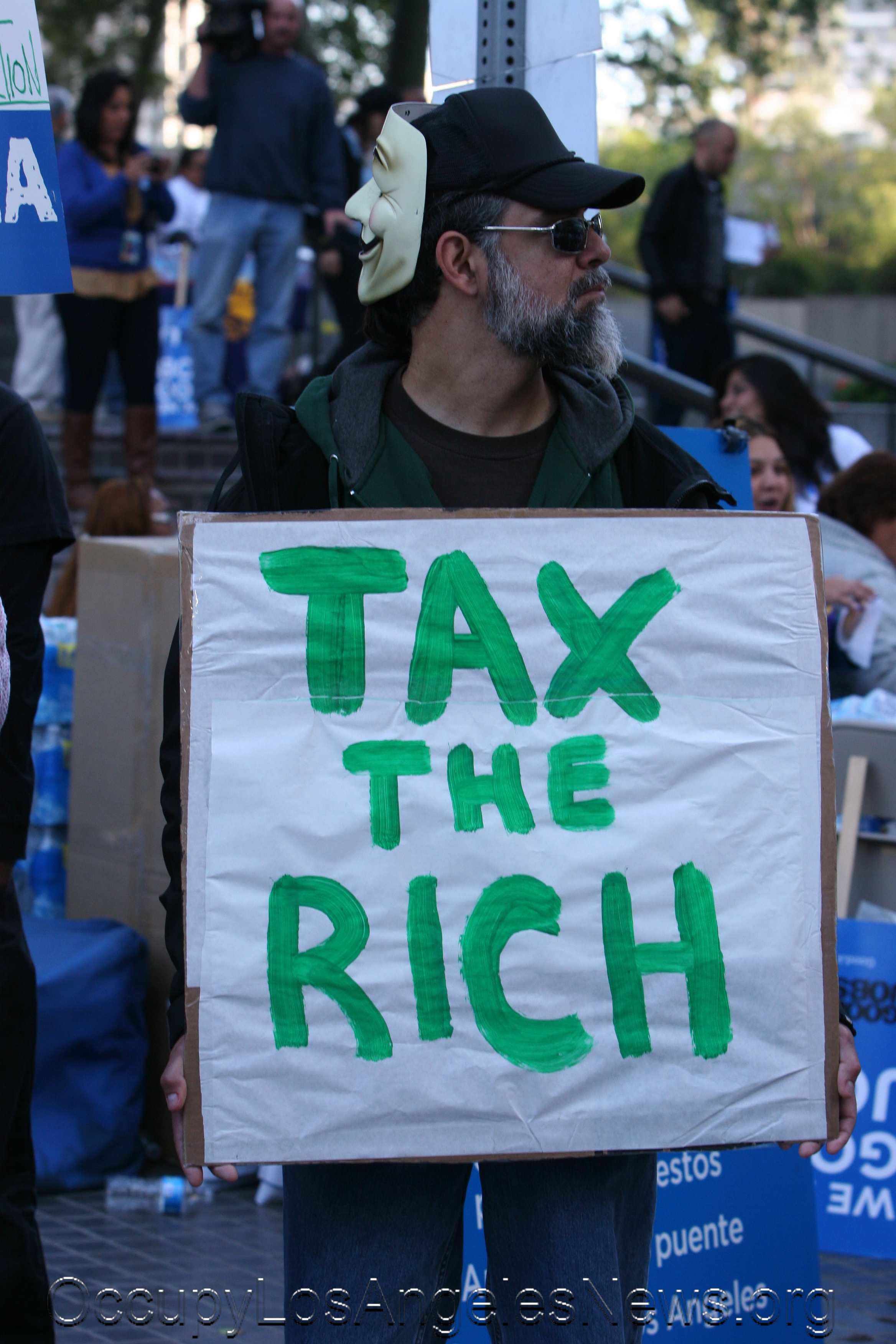 Occupy LA called for more taxes upon the 1%
