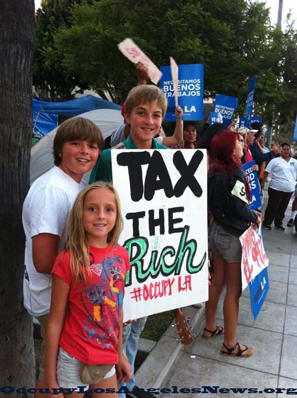 Tax the rich...OccupyLA