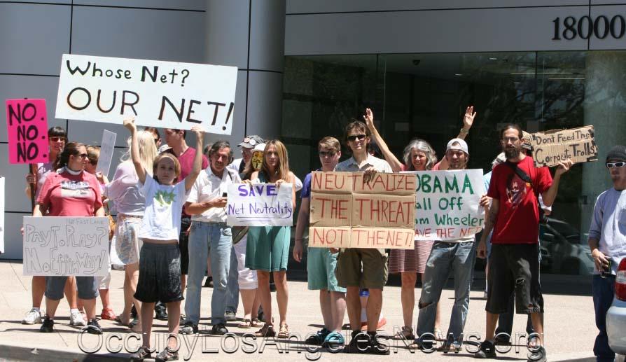 Occupy the FCC Rally in Cerritos Californa 5.15.2014