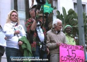 Dennis Peron at Occupy LA 2011.