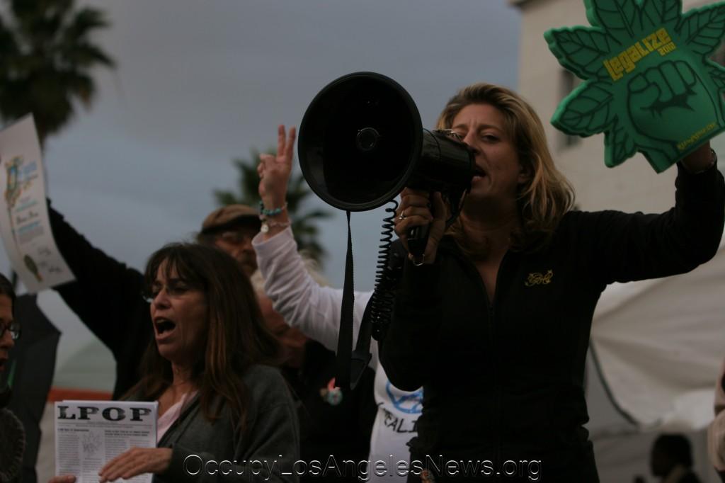 Melissa Balin at Occupy LA protest in 2011