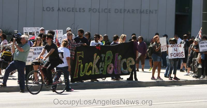 Los Angeles Protest of LAPD Killing of Ezell Ford