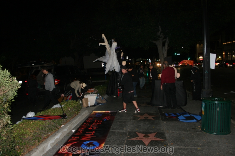 Occupy LA's Ghosts of Halloween 2014 @ Sunset and Vine Hollywood California