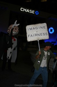 Occupy LA at Sunset and Vine - Ghosts of Halloween