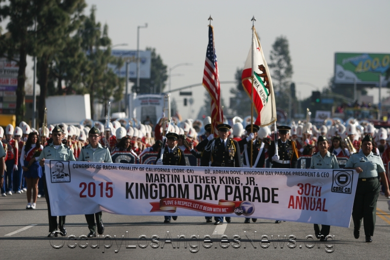 """Black Lives Matter"" Was Theme of The Day for the 30th Annual Martin Luther King Day Parade in Los Angeles"