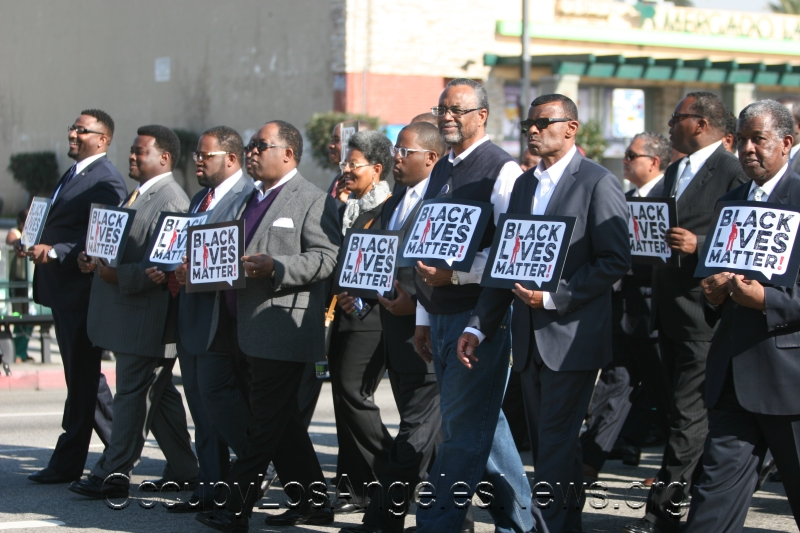 L.A. County Supervisor Mark Ridley Thomas and Los Angeles City Councilman Curren Price Marched in the MLK parade.