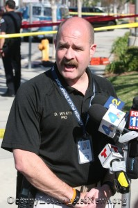 PIO Daron Wyatt described the KKK counter protest melee that occurred in Anaheim California a city that once had members of the city council who were open KKK members.