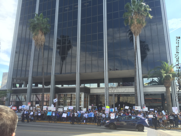 "Protestors ""Occupy CNN"" in Hollywood"